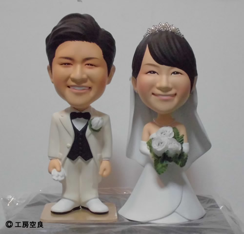オーダーメイドフィギュア 結婚式 ブライダル記念 製作事例